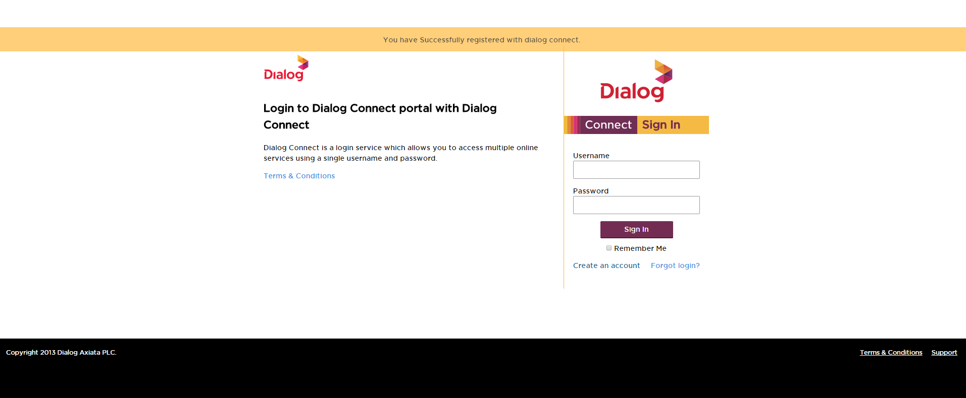 How to create a Dialog Connect Account – Ideamart